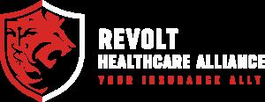 Revolt Healthcare Alliance Horizontal Logo - White & Red